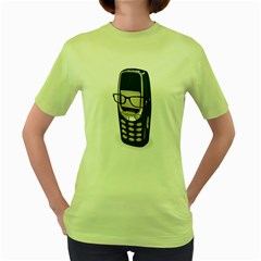 SMART PHONE Womens  T-shirt (Green)
