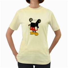 Milky Mouse  Womens  T-shirt (Yellow)