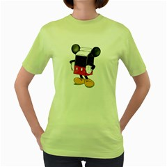 Milky Mouse Womens  T-shirt (Green)