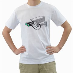 Watching You Mens  T Shirt (white)