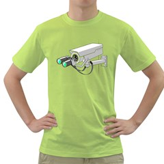 Watching You Mens  T-shirt (Green)