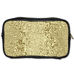 Decorative Gold Travel Toiletry Bag (one Side)