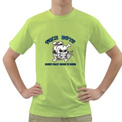Nice Boys Mens  T-shirt (Green)