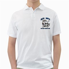 Nice Boys Mens  Polo Shirt (White)