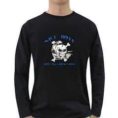 Nice Boys Mens' Long Sleeve T-shirt (Dark Colored)