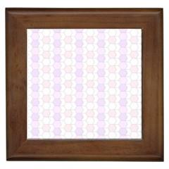 Allover Graphic Soft Pink Framed Ceramic Tile