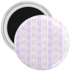 Allover Graphic Soft Pink 3  Button Magnet