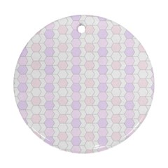 Allover Graphic Soft Pink Round Ornament