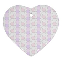 Allover Graphic Soft Pink Heart Ornament