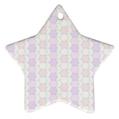 Allover Graphic Soft Pink Star Ornament
