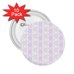 Allover Graphic Soft Pink 2.25  Button (10 pack)