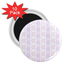 Allover Graphic Soft Pink 2.25  Button Magnet (10 pack)