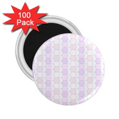 Allover Graphic Soft Pink 2.25  Button Magnet (100 pack)
