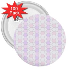 Allover Graphic Soft Pink 3  Button (100 Pack)