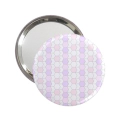 Allover Graphic Soft Pink Handbag Mirror (2.25 )