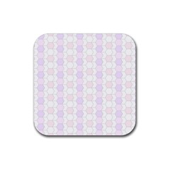 Allover Graphic Soft Pink Drink Coaster (Square)