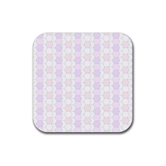 Allover Graphic Soft Pink Drink Coasters 4 Pack (square)