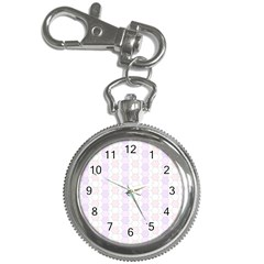 Allover Graphic Soft Pink Key Chain & Watch