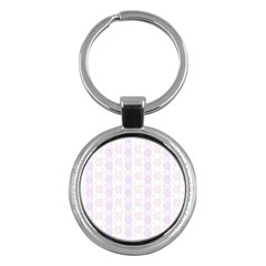 Allover Graphic Soft Pink Key Chain (round)