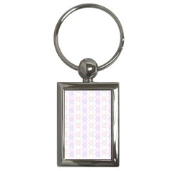 Allover Graphic Soft Pink Key Chain (Rectangle)