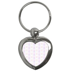 Allover Graphic Soft Pink Key Chain (heart)
