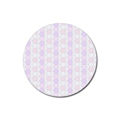 Allover Graphic Soft Pink Drink Coaster (Round)