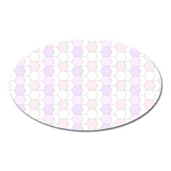 Allover Graphic Soft Pink Magnet (Oval)