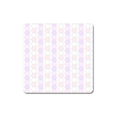 Allover Graphic Soft Pink Magnet (square)