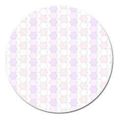 Allover Graphic Soft Pink Magnet 5  (Round)