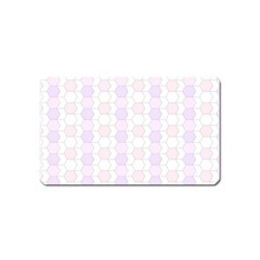 Allover Graphic Soft Pink Magnet (Name Card)