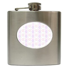 Allover Graphic Soft Pink Hip Flask