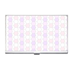 Allover Graphic Soft Pink Business Card Holder