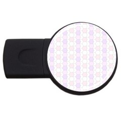 Allover Graphic Soft Pink 1GB USB Flash Drive (Round)