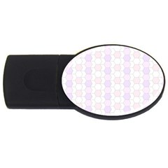 Allover Graphic Soft Pink 1GB USB Flash Drive (Oval)