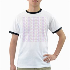 Allover Graphic Soft Pink Mens' Ringer T-shirt