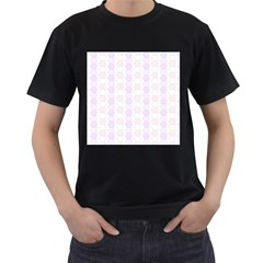 Allover Graphic Soft Pink Mens' Two Sided T-shirt (Black)