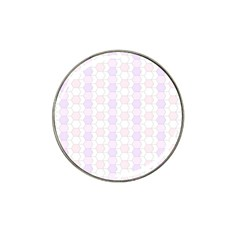 Allover Graphic Soft Pink Golf Ball Marker 4 Pack (for Hat Clip)