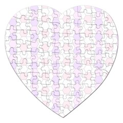 Allover Graphic Soft Pink Jigsaw Puzzle (Heart)