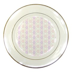Allover Graphic Soft Pink Porcelain Display Plate