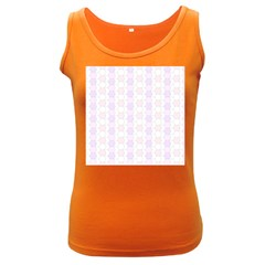 Allover Graphic Soft Pink Womens  Tank Top (dark Colored)