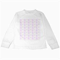 Allover Graphic Soft Pink Kids Long Sleeve T Shirt