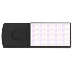 Allover Graphic Soft Pink 4gb Usb Flash Drive (rectangle)