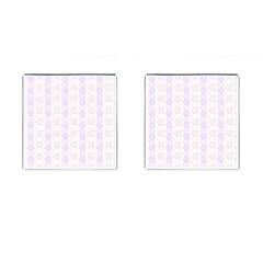 Allover Graphic Soft Pink Cufflinks (Square)