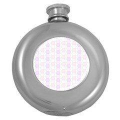 Allover Graphic Soft Pink Hip Flask (Round)