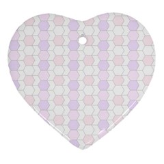 Allover Graphic Soft Pink Heart Ornament (two Sides)