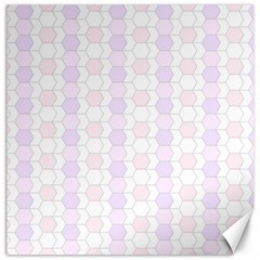 Allover Graphic Soft Pink Canvas 20  x 20  (Unframed)