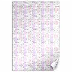 Allover Graphic Soft Pink Canvas 20  x 30  (Unframed)