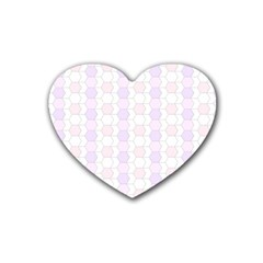 Allover Graphic Soft Pink Drink Coasters 4 Pack (Heart)