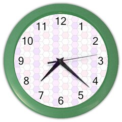Allover Graphic Soft Pink Wall Clock (Color)