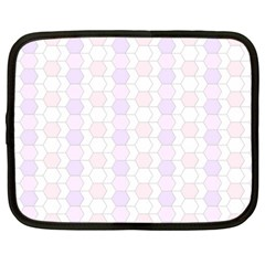 Allover Graphic Soft Pink Netbook Sleeve (large)